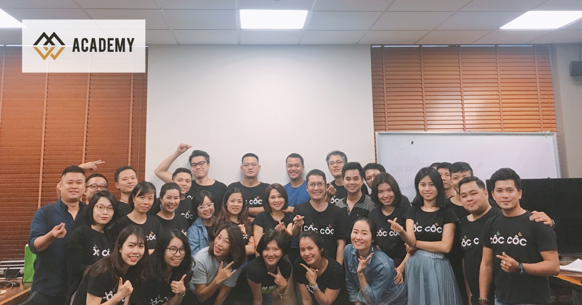 HLV Nguyễn Thanh Sơn giảng dạy chương trình Storytelling MasterClass cho ban lãnh đạo công ty Cốc Cốc